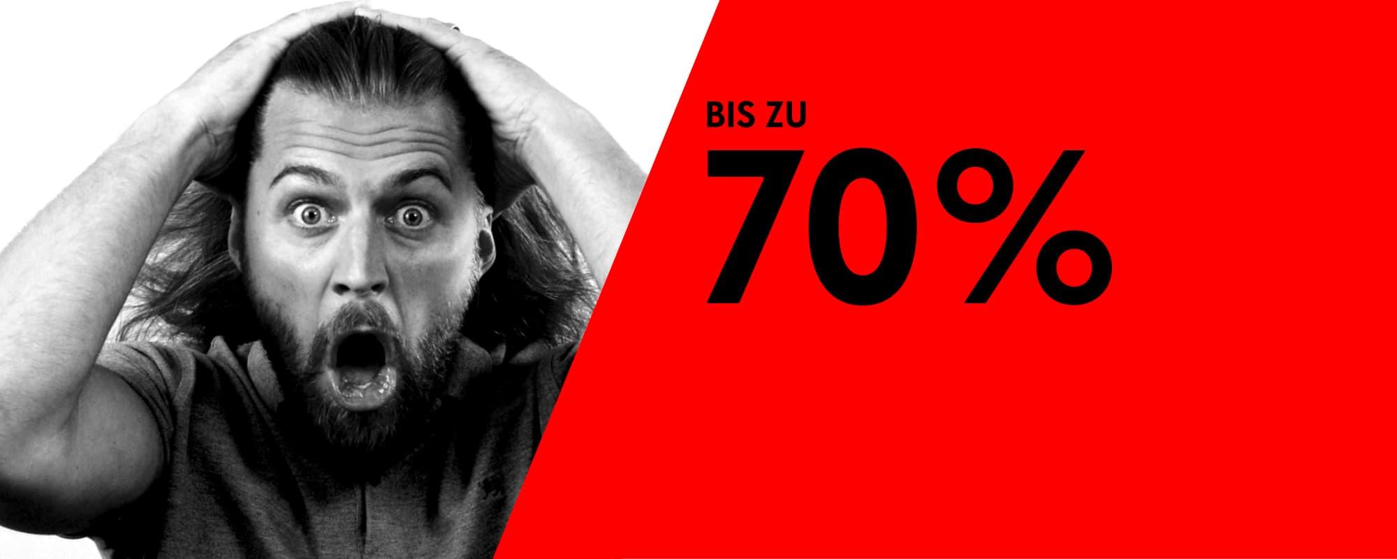 Bis 70% Rabatt