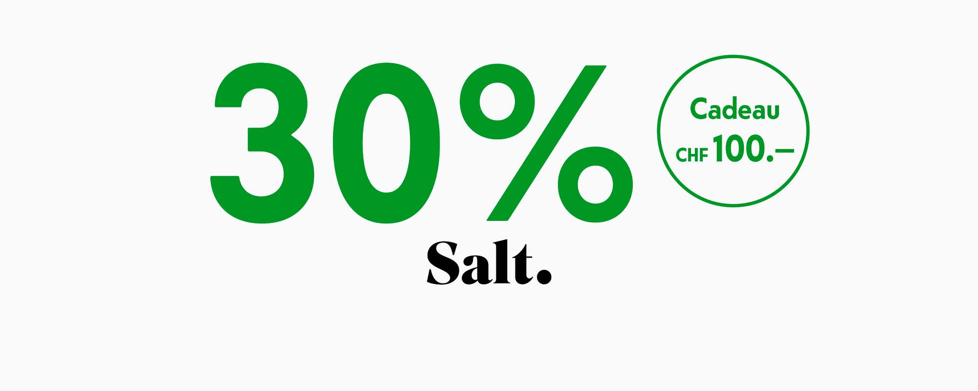30% con Salt