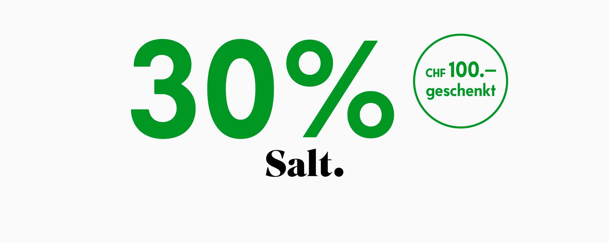 30% auf Salt Abos