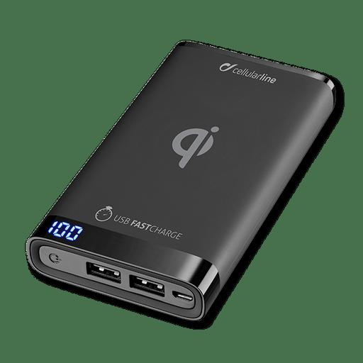 Image of cellular line Powerbank Wireless 8000 mAh Schwarz Black
