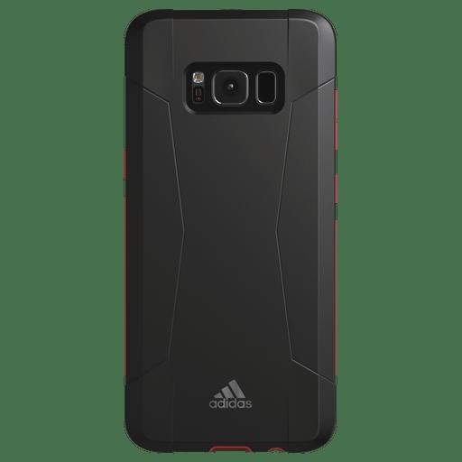 Image of Adidas Galaxy S8 Handyhülle Silikon Schwarz/Rot Schwarz