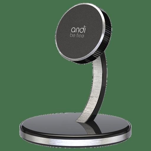 Image of Andi Be Free Wireless Desktop Ladegerät 15W Schwarz Schwarz