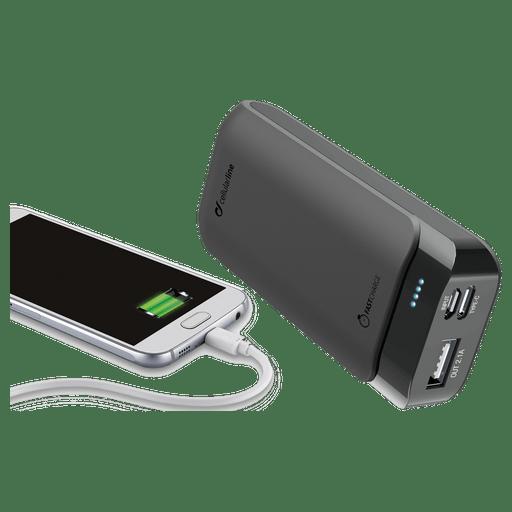 Image of cellular line Powerbank 5200 mAh Fast Charge USB C Schwarz Black