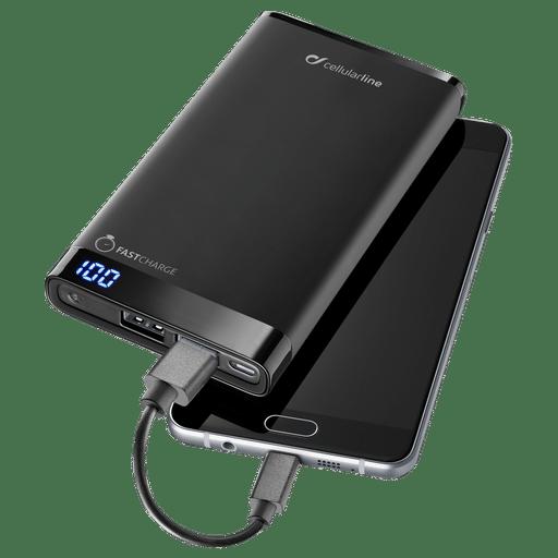 Image of cellular line Powerbank Manta 12000 mAh Fast Charge Schwarz Black
