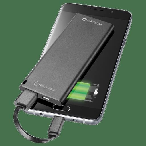 Image of cellular line Powerbank Slim 3000 mAh Fast Charge Schwarz Black