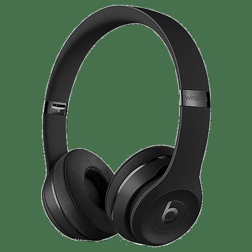 Image of Beats Solo 3 Wireless On-Ear Headset Jet Black Jet Black