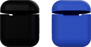 itStyle Airpods Silicon Case Set Black/Blue