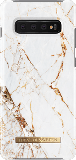 iDeal of Sweden Galaxy S10+ Cover Marble White/Gold