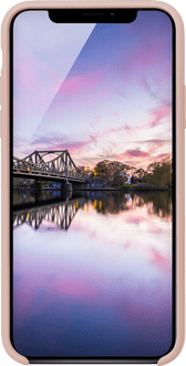 JT Berlin iPhone Xs Max Silicon Backcover pinksand