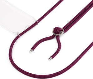 Jalouza iPhone X/Xs Necklace Silicon Cover Aubergine