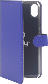 Celly iPhone XR Book Stand Case blue