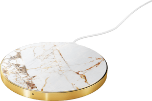 iDeal of Sweden Wireless Charging Plate 10W Marble White/Gold