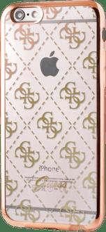 Guess iPhone 7/8 TPU Cover pattern transparent gold