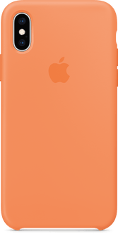 Apple iPhone X/XS Silicon Backcover Papaya