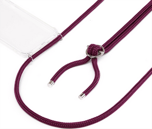 Jalouza iPhone XR Necklace Silicon Cover Aubergine