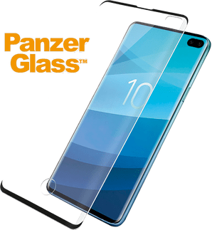 Panzer Glass Galaxy S10 e screenprotector fit black