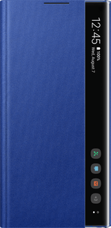 Samsung Galaxy Note 10+ Clear View Flip Cover blue