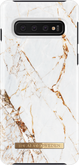 iDeal of Sweden Galaxy S10 Cover Marble White/Gold