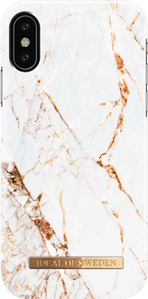 iDeal of Sweden iPhone X/Xs Cover Marble White/Gold