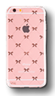 Uniq iPhone 7/8 TPU Case transparent rose gold ribbon