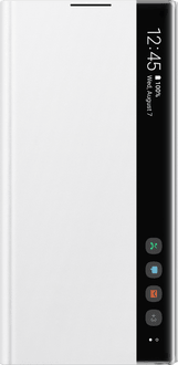 Samsung Galaxy Note 10+ Clear View Flip Cover white