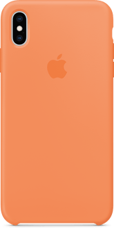 Apple iPhone XS Max Silicon Backcover Papaya