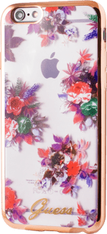 Guess iPhone 6/7/8 TPU Cover transparent flowers
