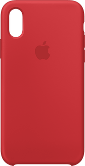 Apple iPhone X/Xs Silicone Backcover red
