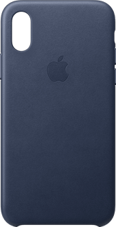 Apple iPhone X/Xs Leather Backcover midnight blue