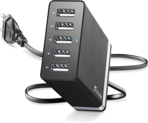 cellularline 5x USB Port fast charge black