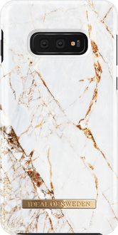 iDeal of Sweden Galaxy S10e Cover Marble White/Gold
