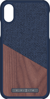 Nordic Elements iPhone X/Xs Backcover Wood blue