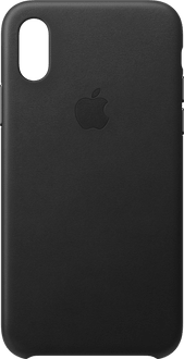 Apple iPhone X/Xs Leather Backcover black