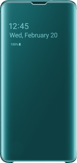 Samsung Galaxy S10 Clear View Flip Cover green