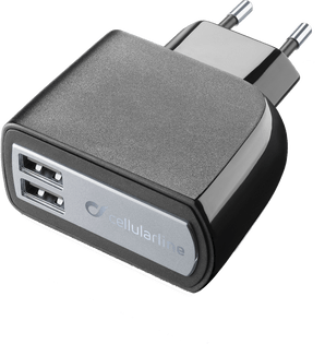 cellularline Charger 220V 2xUSB fast without black