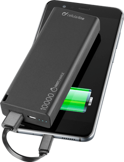 Cellularline Power Bank 10000 mAh Slim Black