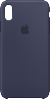 Apple iPhone Xs Max Silicon Backcover midnight blu