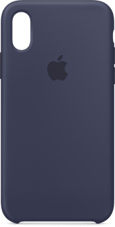 Apple iPhone X/Xs Silicone Backcover midnight blue