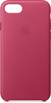Apple iPhone 7/8 NEW Leather Backcover pink fuchs*