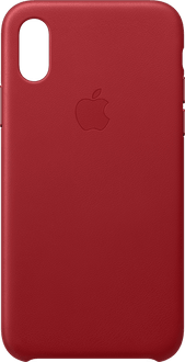 Apple iPhone X/Xs Leather Backcover red