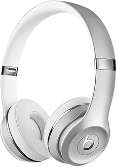 Beats Solo 3 on ear Headset Wireless Silver