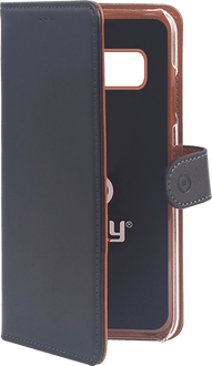 Celly Galaxy S10e Book Stand Case black