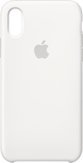 Apple iPhone X/Xs Silicone Backcover white