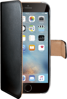 Celly iPhone 6/6s Classic Book Stand Case black
