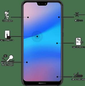 Eiger Huawei P20 lite screenprotector Glas flach