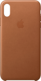 Apple iPhone Xs Max Leather Backcover saddle brown