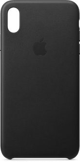 Apple iPhone Xs Max Leather Backcover black