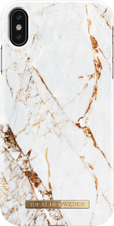 iDeal of Sweden iPhone Xs Max Cover Marble White/Gold