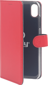 Celly iPhone XR Book Stand Case red