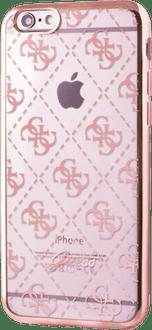 Guess iPhone 7/8 TPU Cover pattern transparent rosegold